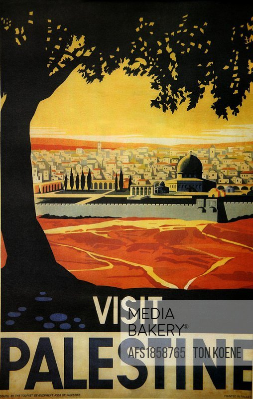 Poster promoting tourism in Palestine