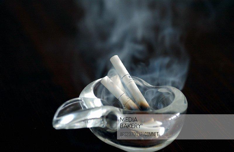 Ashtray, burning, cigarettes, health, injurious, problematical, smoke, smoking, symbol