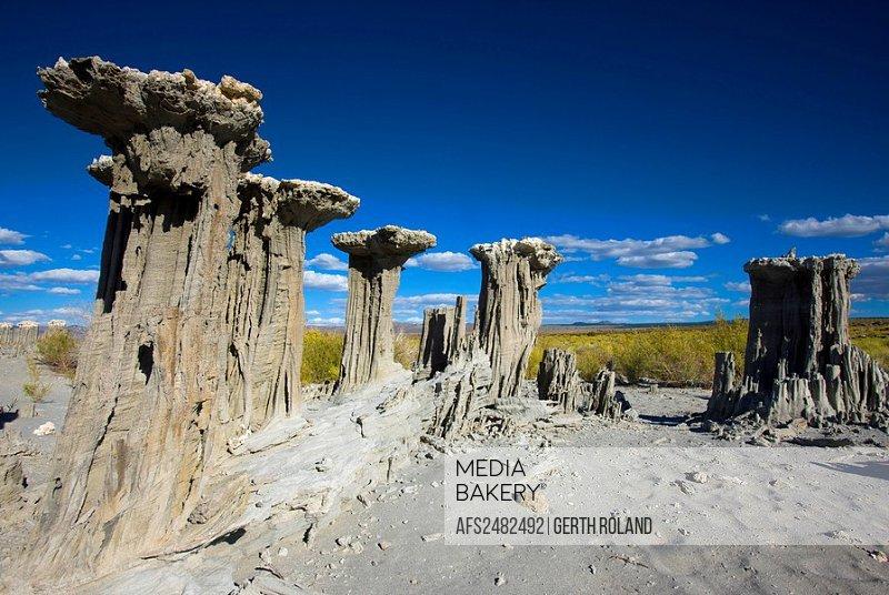 Mono Lake, USA, Amerika, Vereinigte Staaten, Kalifornien, Felsen, Felsskulpturen, Tuffstein