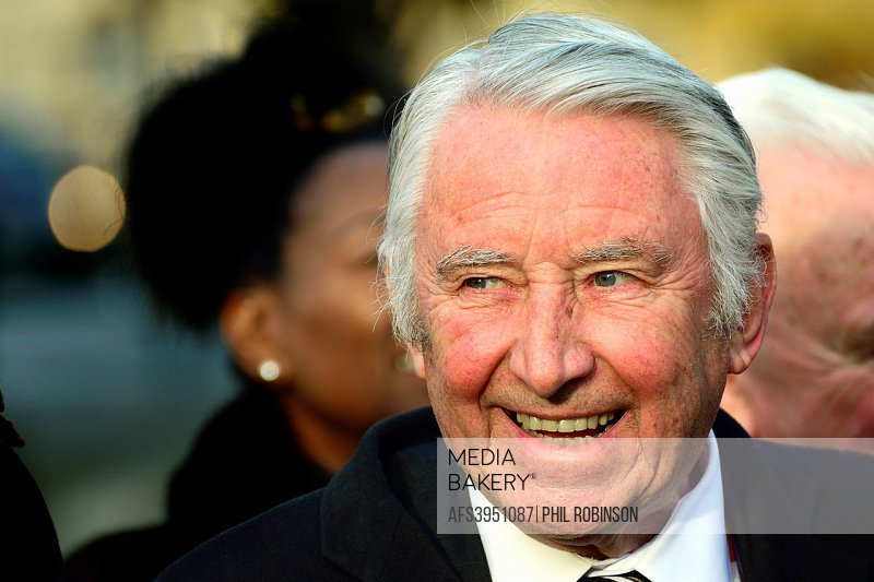 David Steel / Lord Steel of Aikwood, at an event on College Green, Westminster welcoming newly-elected MP for Richmond Sarah Olney (LibDem) to Parliam...