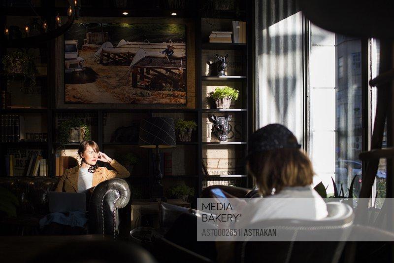 Women sitting in coffee shop