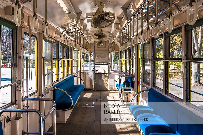Old tram car in Edo-Tokyo Open Air Architectural Museum Japan