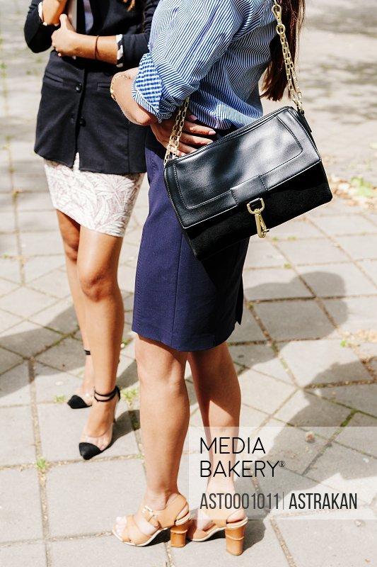 Businesswomen standing outdoors