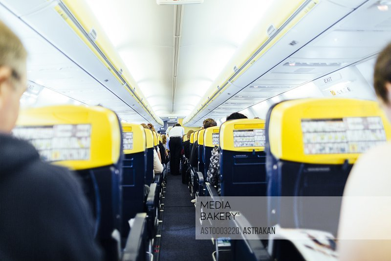 People travelling in airplane