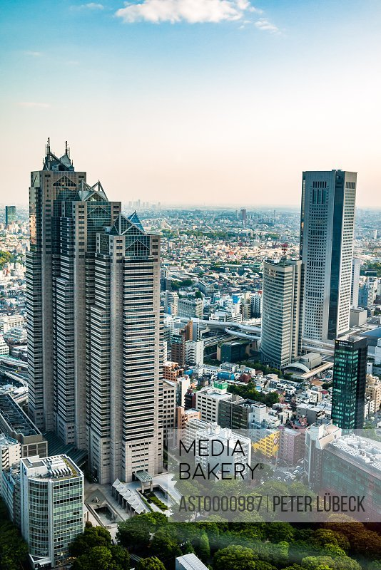 Shinjuku Park Tower as seen from Tokyo Metropolitan Government building Japan