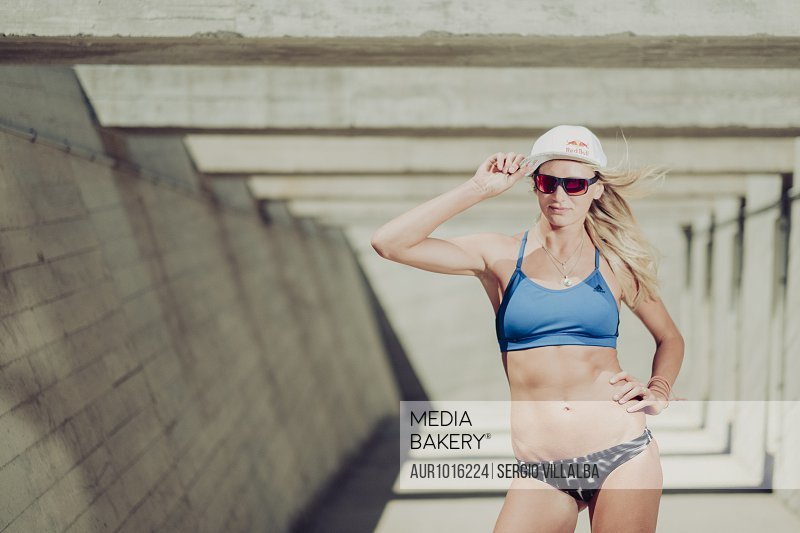 Beach Volley player, Maggie Kozuch, poses for a portrait<br><br><span style='color: red'>Editorial Use Only.</span><br><br>