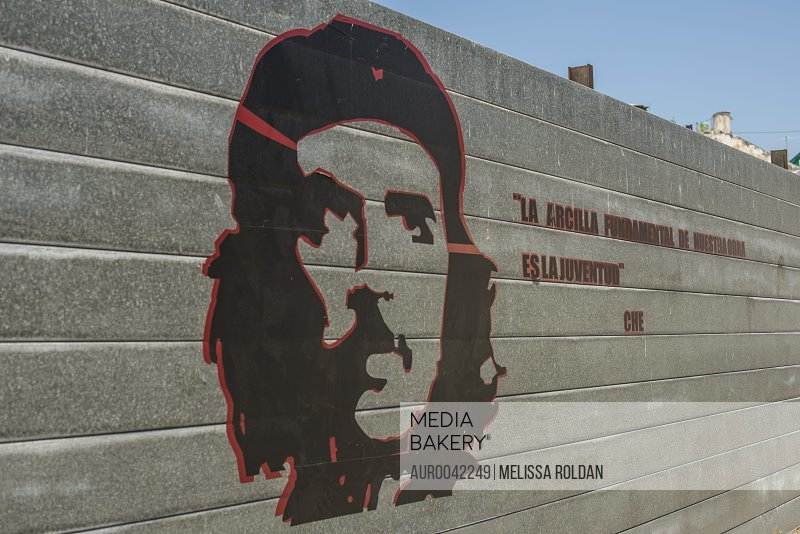 La arcilla fundamental de nuestra obra revolucionaria es la juventud. The basic clay of our work is the youth - Che Guevara. Painted on a tin wall near the Museum of the Revolution (Spanish: Museo de la Revolución). Old Havana or Habana Vieja, La Habana, Cuba<br><br><span style='color: red'>Editorial Use Only.</span><br><br>