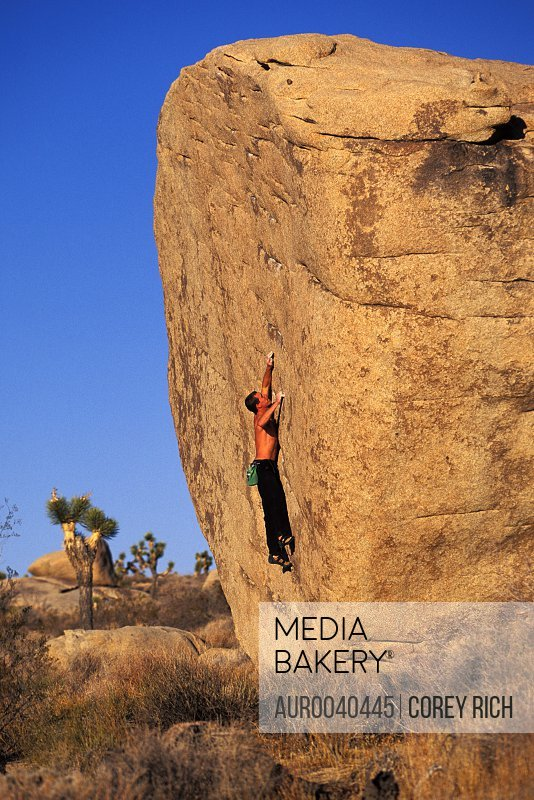 Justin Bastien on Slashface V4 in Joshua Tree National Park, California.