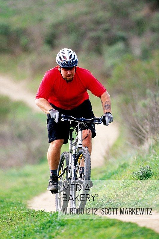 Biker riding in Laguna, California