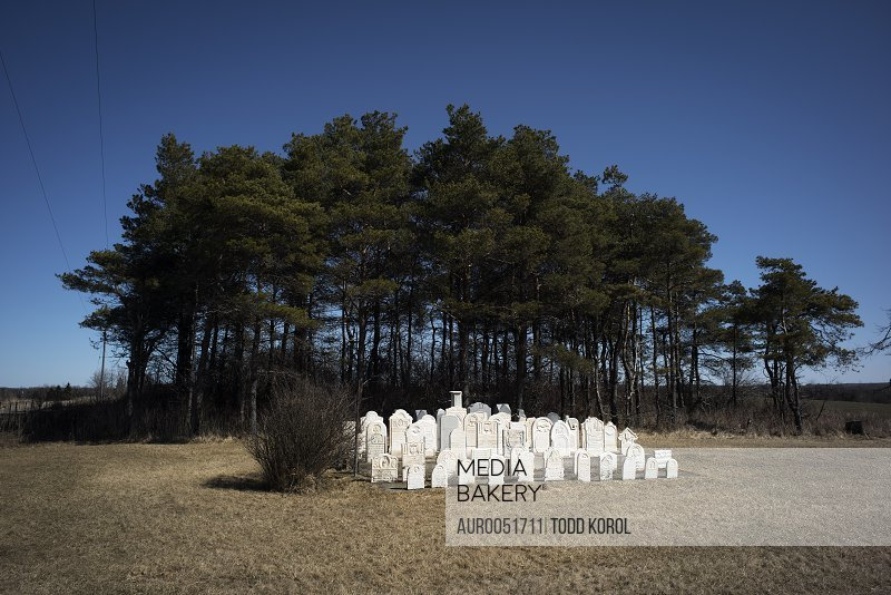View Of Burial Site In Owen Sound, Ontario, Canada
