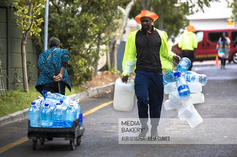 Cape Town water crisis, Western Cape Province, South Africa<br><br><span style='color: red'>Editorial Use Only.</span><br><br>
