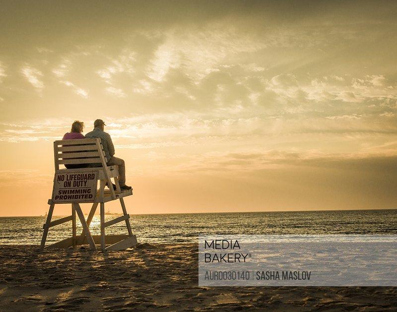 A couple on sundown.