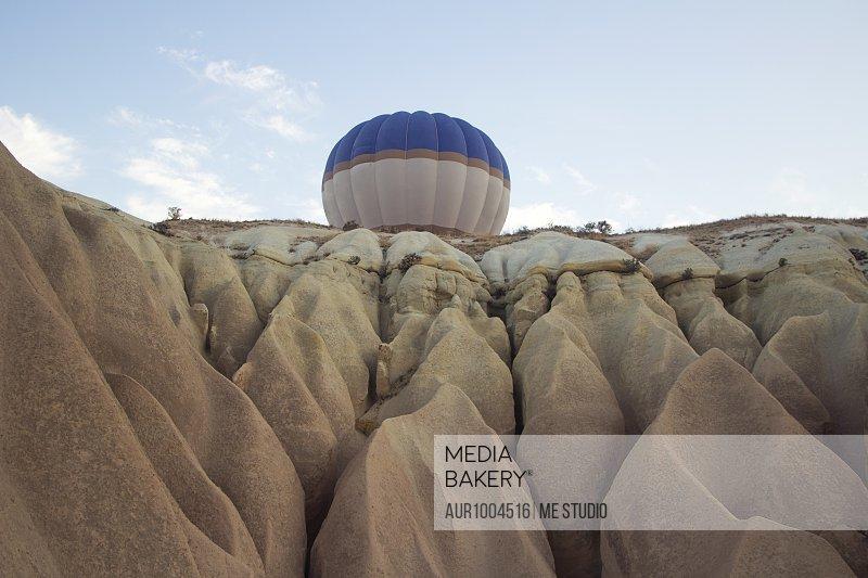 Hot air balloons flying over Cappadocia†
