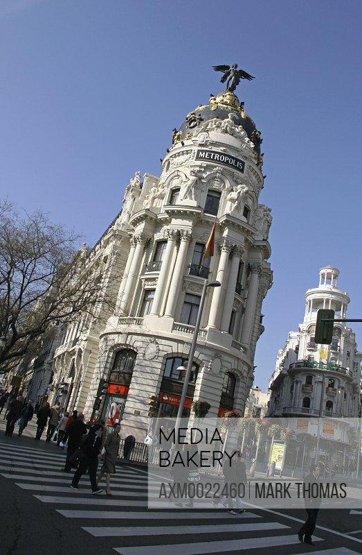 Edificio Metropolis (Metropolis Building), Gran Via, Madrid, Spain
