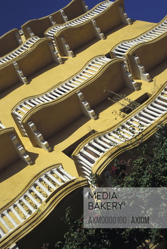 Balconies In Plaza De Los Coches, Low Angle View