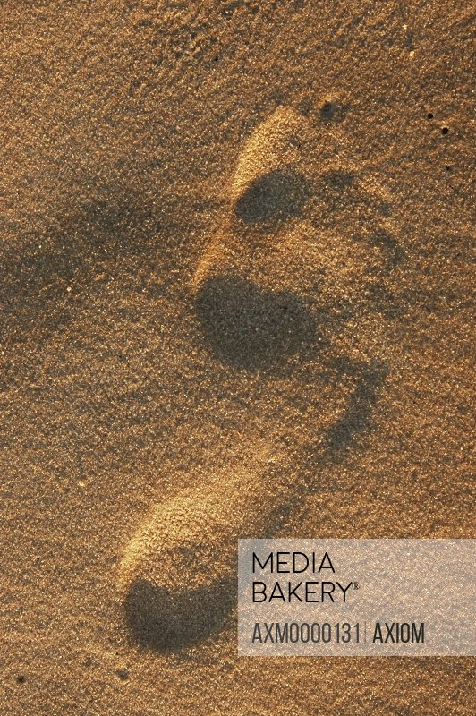 Footprint In Sand, Close Up