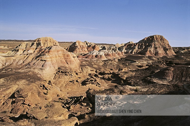 Yadon landform of Wucai Bay, Jimusaer County , Xinjiang Uygur Autonomous Region of People's Republic of China