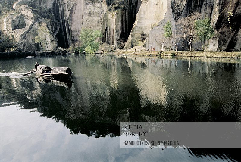 Wupeng Ship on the East Lake, East Lake in Shaoxing city of Zhejiang province of People's republic of China