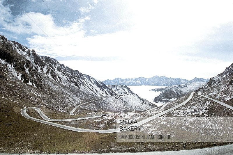 Valley road of Balang Mountain, Xiaojin County, Aba State, Sichuan Province of People's Republic of China