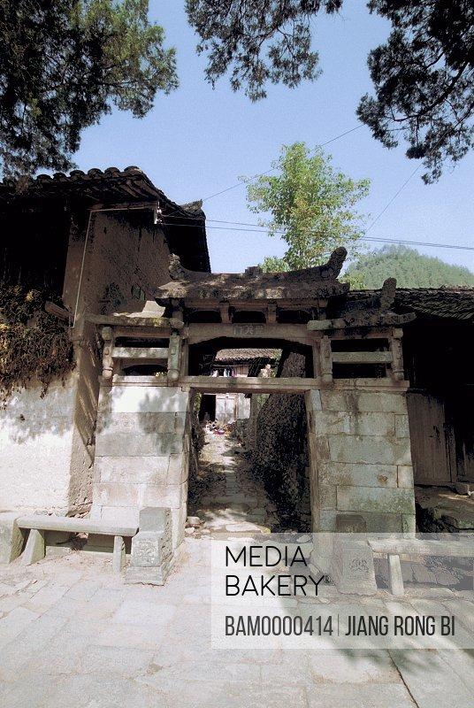 Stone Gate of Ancient House, Taishun County, Zhejiang Province, People's Republic of China