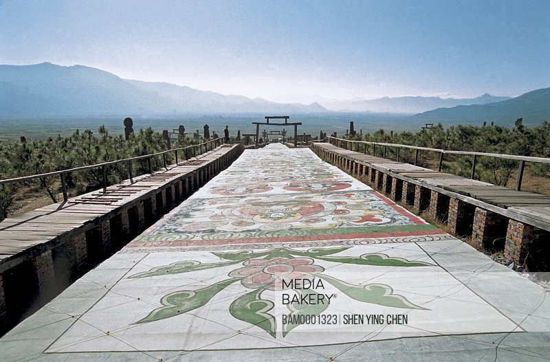 God garden scenery of Dongba, Dongba Village, Lijiang City, Yunnan Province of People's Republic of China