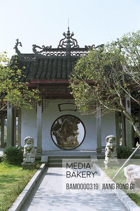 Garden in Junshan Park, Yueyang City, Hunan Province, People's Republic of China