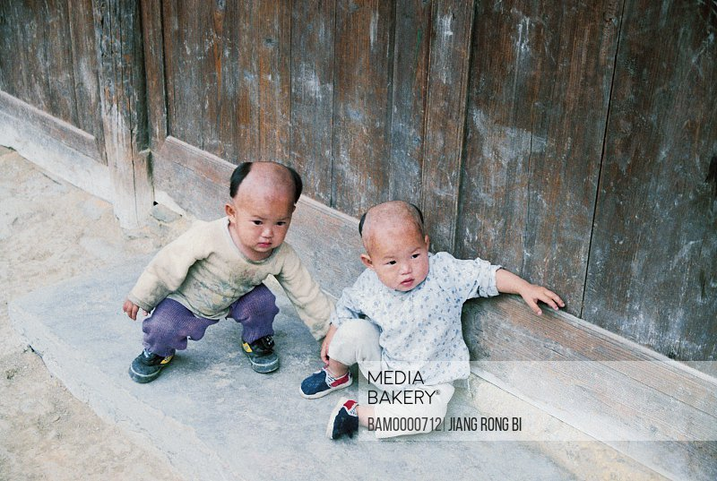 Miao minority Twins of thousand's houses in Xijiang, Thousand of Miao minority's house of Xijiang, Kaili City, Guizhou Province of People's Republic of China