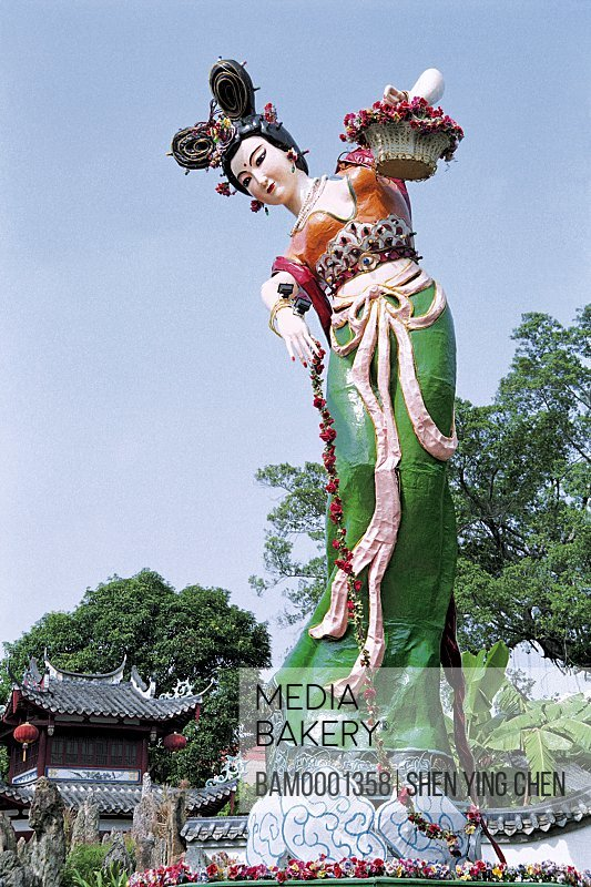 Fairy sculpture of the West Lake Park, West Lake Park, Fuzhou City, Fujian Province of People's Republic of China