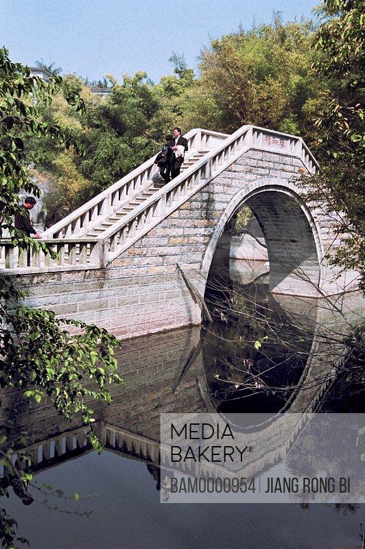 Stone Bridge in Shuzhuang Garden on Gulangyu Island, Gulangyu Island, Xiamen City, Fujian Province, People's Republic of China