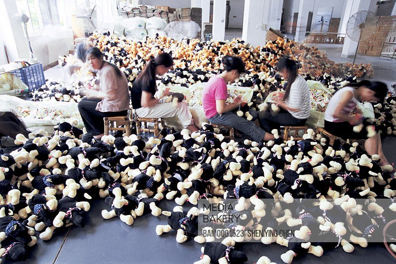 Production workshop of Changming toy limited company, Fuxing investment district, Fuzhou City, Fujian Province of People's Republic of China