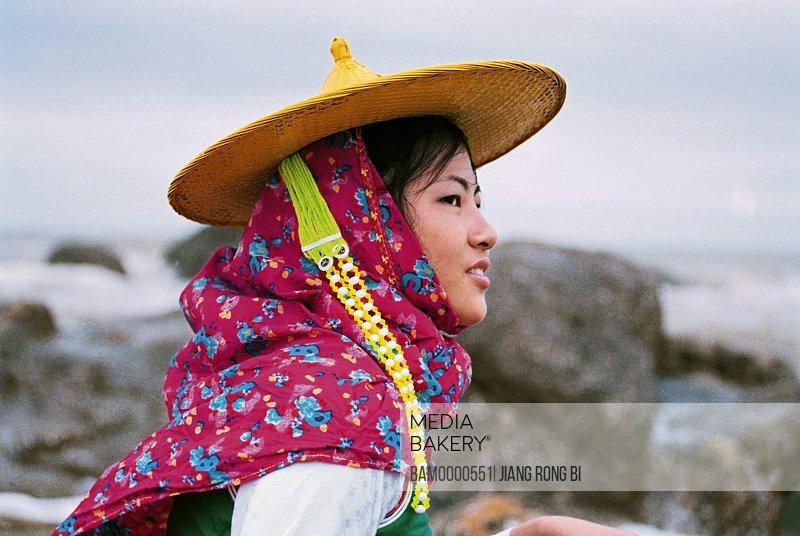 Huian Lady Viewing the Sea, Chongwu Town, Huian County, Fujian Province, People's Republic of China