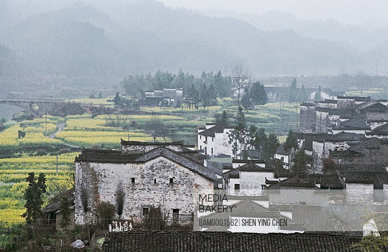 Houses in Mouyuan town, Wuyuan County, Jiangxi Province of People's Republic of China