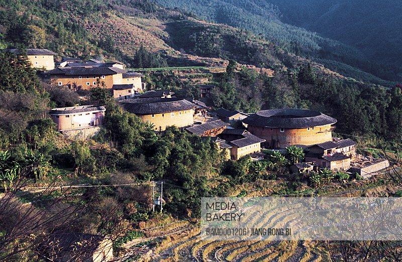 Grouping Earth Towers Tianluokeng Village, Nanjing County, Zhangzhou City, Fujian Province, PRC