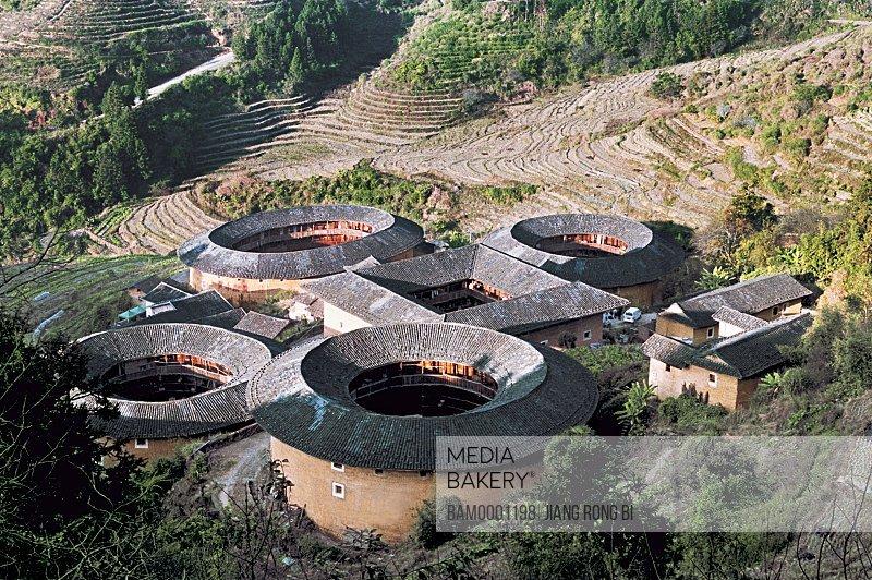 Grouping Earth Towers Tianluokeng Village , Nanjing County, Zhangzhou City, Fujian Province, PRC