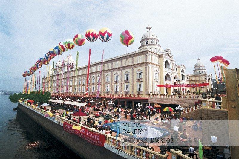Lantern festival on the Zhongzhou island, Fuzhou City, Fujian Province, People's Republic of China