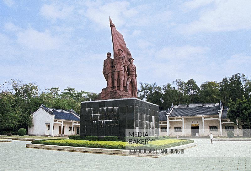 Martyr statue in font of the Martyr memorial hall, Guangxi Zhuang Nationality Autonomous Region of People's Republic of China