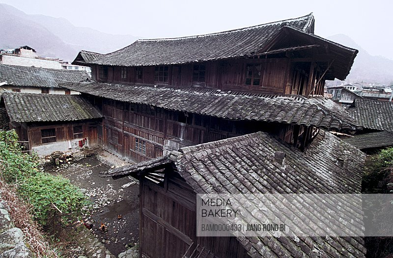 Rooftop of houses, Large Courtyard of Ancient Residence, Taishun County, Zhejiang Province, People's Republic of China