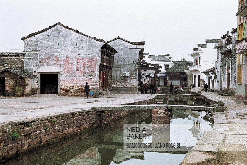 Small Bridge in Tangmo Village, Shexian County, Anhui Province, People's Republic of China