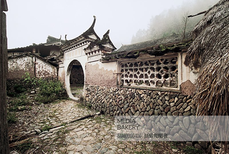 View of a circular entranceway to a house, Ancient Residence in Taishun, Taishun County, Zhejiang Province, People's Republic of China