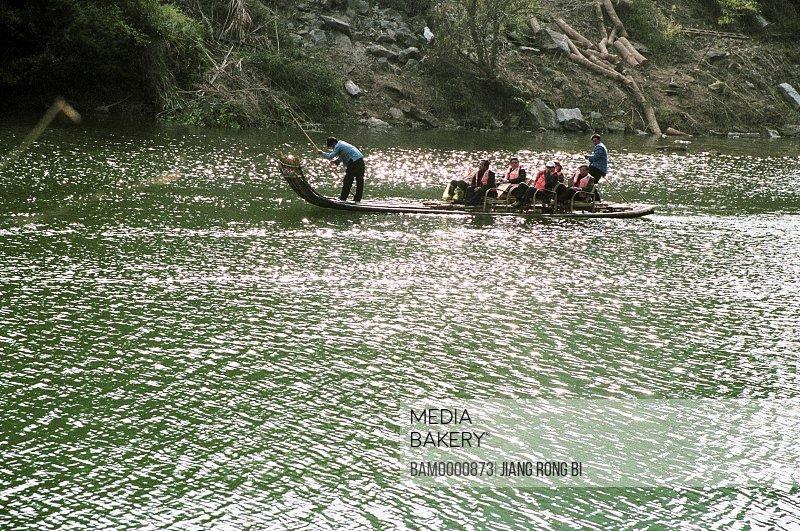 Rafting on Jiuqu Rivulet , Wuyishan City, Fujian Province, People's Republic of China