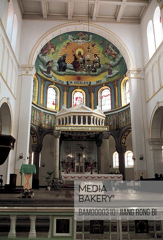 Interior of the God Church, Qingdao City, Shandong Province of People's Republic of China