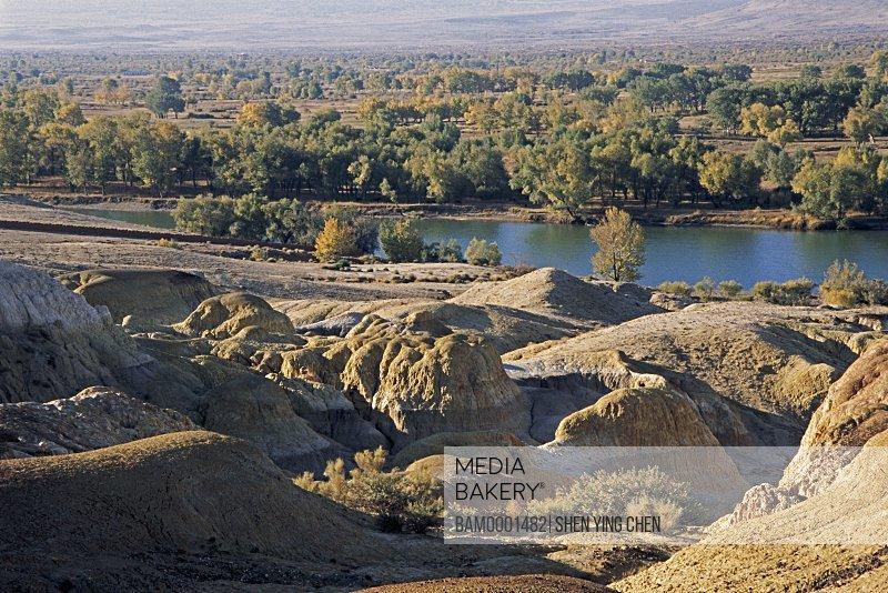Scenery of Wucaichi, Wucaichi of Buerjin County, Xinjiang Uygur Autonomous Region in People's Republic of China