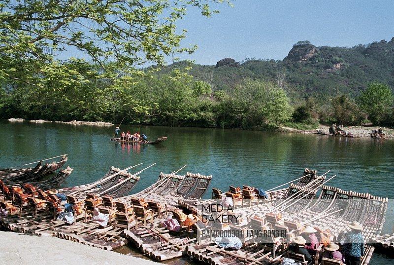 Bamboo Raft for Tourists on Jiuqu Rivulet, Wuyishan City, Fujian Province, People's Republic of China