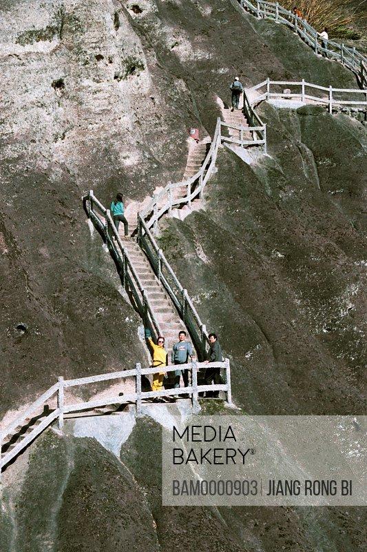 Stone Ladder Leading to Tianyou Peak, Wuyishan City, Fujian Province, People's Republic of China