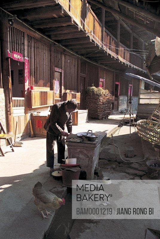 Dwellers of Shunchang Earth Tower, Nanjing County, Zhangzhou City, Fujian Province, PRC
