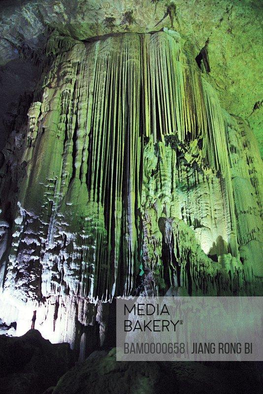 Scenery of Zhijing hold crag limestone cave, Zhijin County,Bijie Region, Guizhou Province of People's Republic of China
