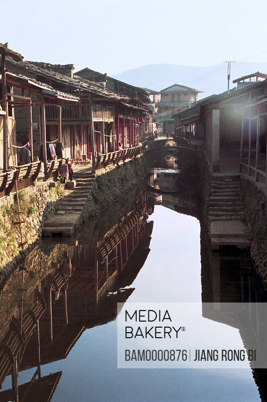 Rivulet in Ancient Xiamei Village , Wuyishan City, Fujian Province, People's Republic of China