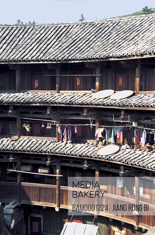 Corner of Huaiyuan Earth tower, Nanjing County, Zhangzhou City, Fujian Province, PRC