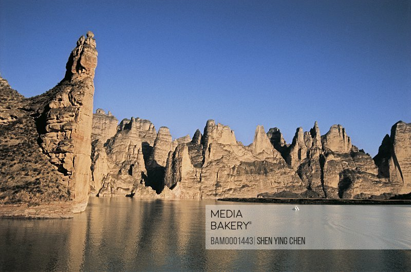 Scenery of Liujia Gorge, Liujia Gorge, Yongjin County, Gansu Province of People's Republic of China