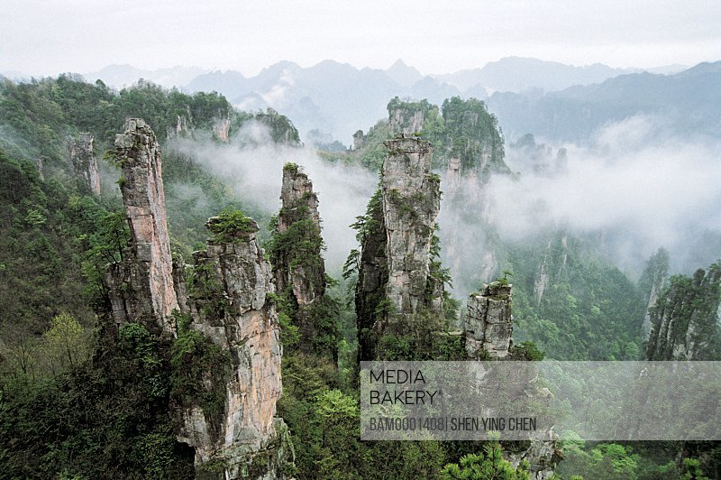 Emperor mountain scenery of Zhangjiajie, Zhangjiajie City, Hunan Province of People's Republic of China